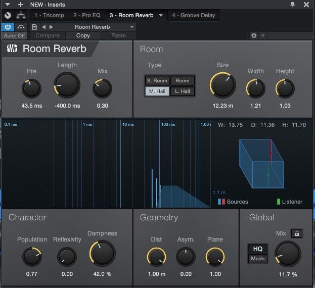 Studio plugins reverb
